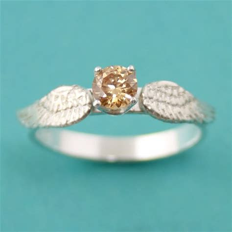 Golden Snitch Ring   Harry Potter Engagement Ring   Golden