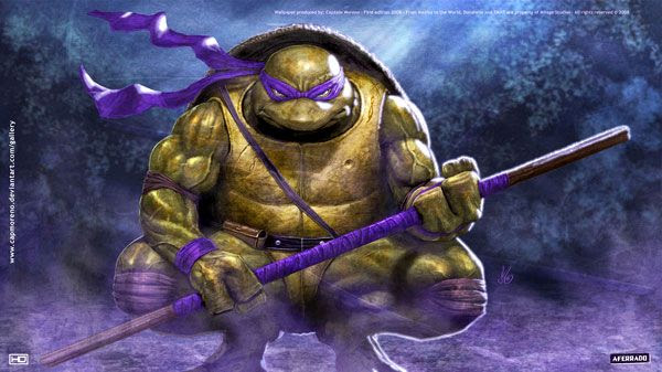 A cool illustration of the Ninja Turtle named Donatello.