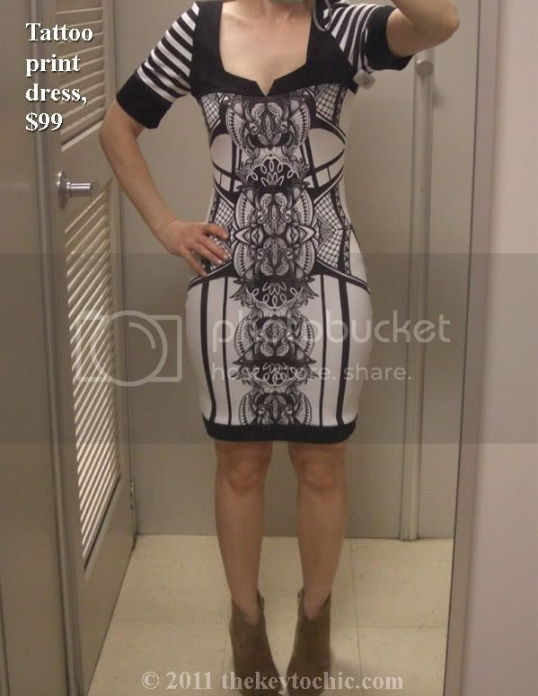 Kardashian Kollection Sears tattoo print dress