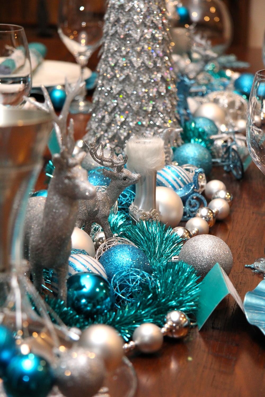 Christmas Table Decorations Teal Eki Riandra