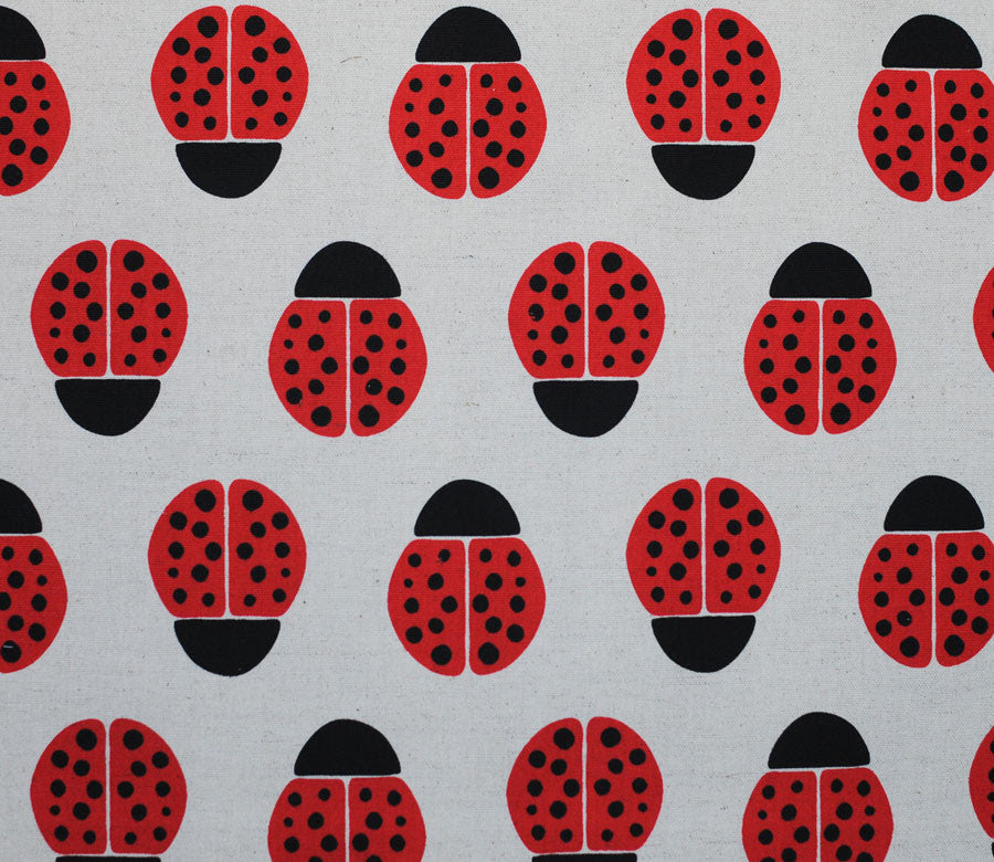 Ladybugs - Red - Ellen Luckett Baker - Stamped - Kokka | Fabric ...