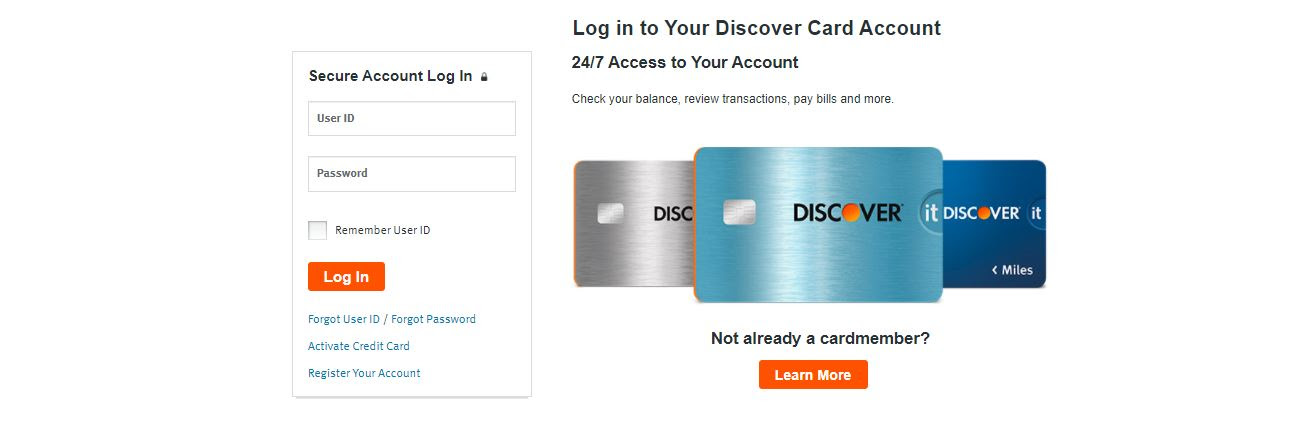 www.discover.com/credit-cards ➤➤➤ Discover Credit Card Login