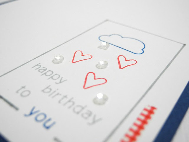 Cloudy Heart Birthday (detail)
