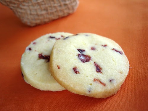 Orange cranberry slice-and-bake cookies