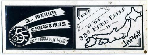 December 1945 Holiday Card from US Occupation Forces in Japan