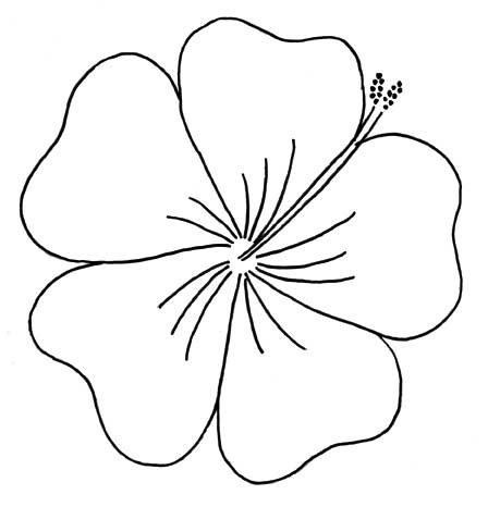Cartoon Tropical Flower Easy Clip Art Library