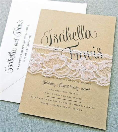 Isabella Script Recycled Kraft Wedding Invitation Sample