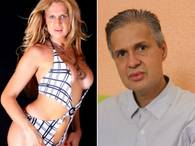 Paulinha Lins, antes de fazer a retirada da prótese de silicone, e após assumir identidade de Clécio Gomes (Foto: Arquivo Pessoal e Raimundo Mascarenhas / Calila Notícias)