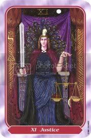 Tarot - major arcana - justice