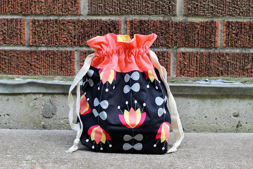 Featherweight Foot Pedal Drawstring Bag by Jeni Baker