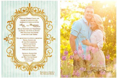LDS Wedding Invitation Wording   LDS Wedding Planner