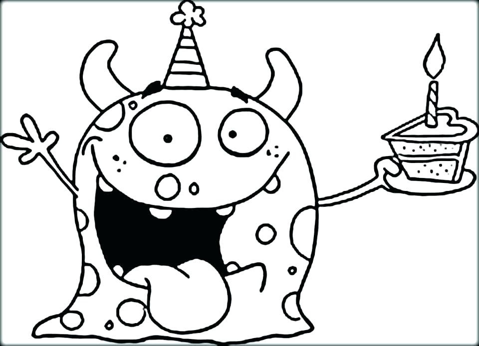 Funny Monster Coloring Pages at GetColorings.com | Free ...