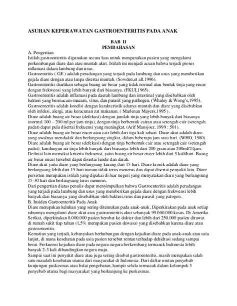 ASKEP GASTROENTERITIS PADA ANAK PDF
