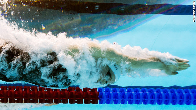 France's Camille Muffat competes in the women's 200-meter freestyle final.