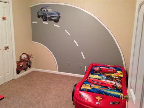 sons disney cars bedroom  road mural  painted