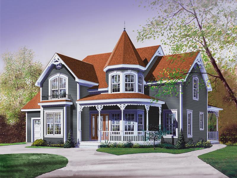 Glendale Cove Victorian Home Plan 032D-0048 | House Plans ...