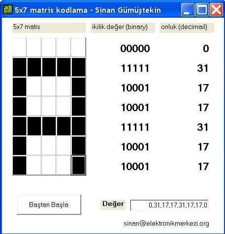 Chương trình ccs mã hóa ma trận 5x7