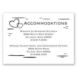 Wedding Accommodation Cards   Invitations by Dawn