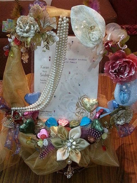 Wedding invitation card decorative basket   ring platters