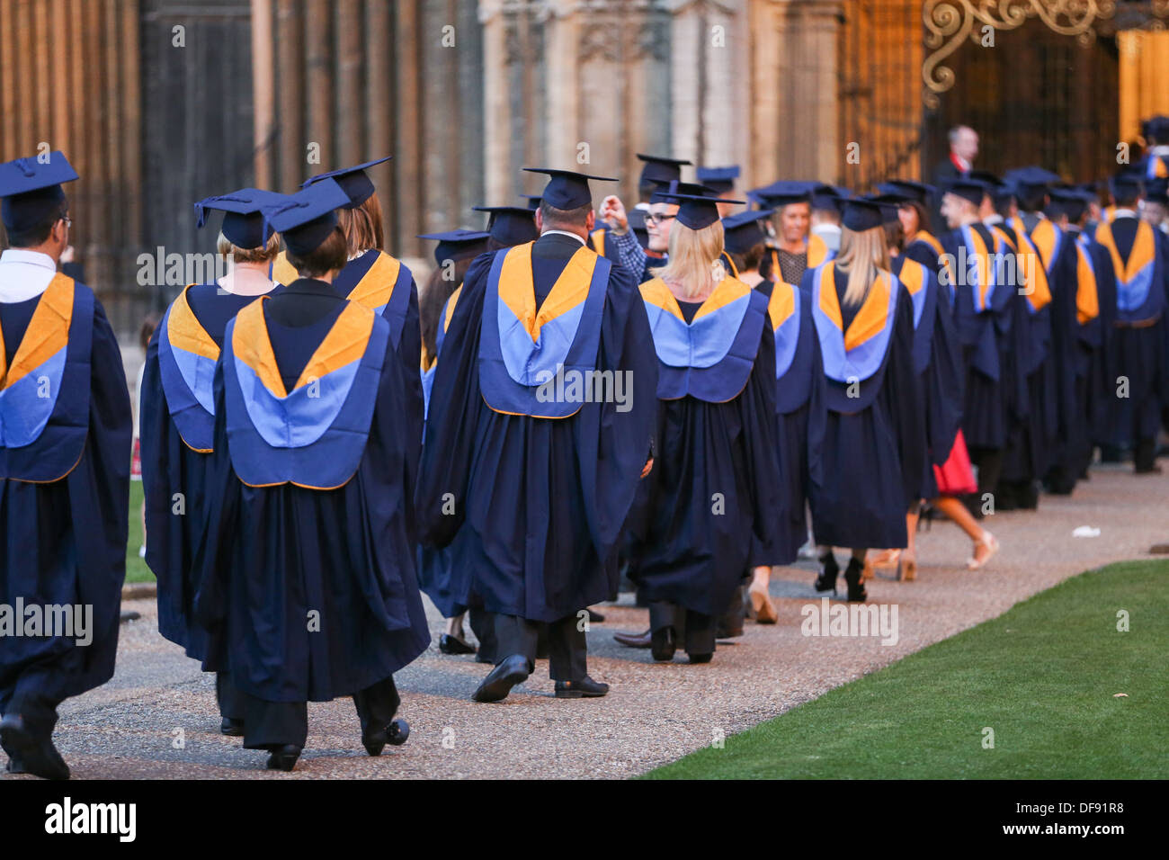 STUDENTS ON GRADUATION DAY FROM ANGLIA RUSKIN UNIVERSITY IN ...