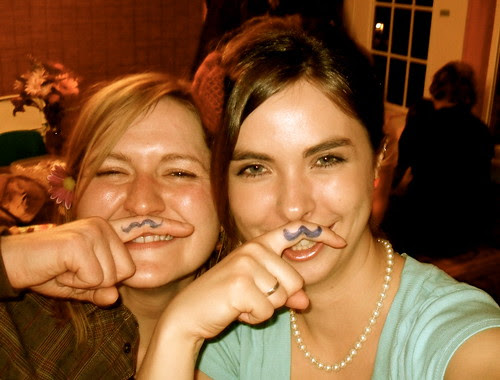 Mustachiod ladies