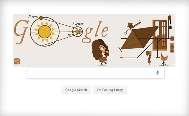 Google Celebrates 340th Anniversary Of The Determination Of Speed Of Light With A Doodle