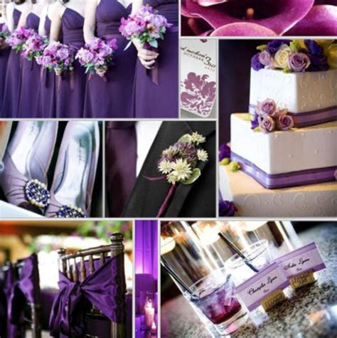 Wedding Decorations For A Purple Wedding / design bookmark