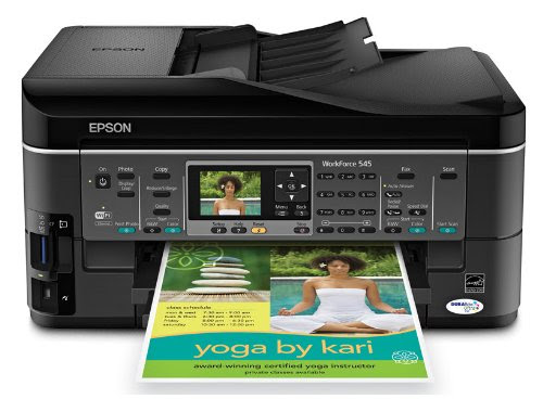 Epson WorkForce 545 Color Inkjet Wireless All-In-One Printer and Copier with Fax (C11CB88201)