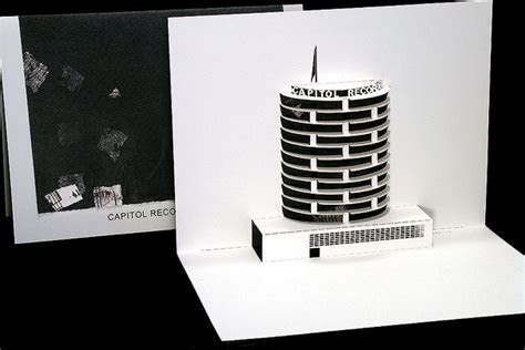 Capitol Records Tower   Origami Architecture Pop Up Cards