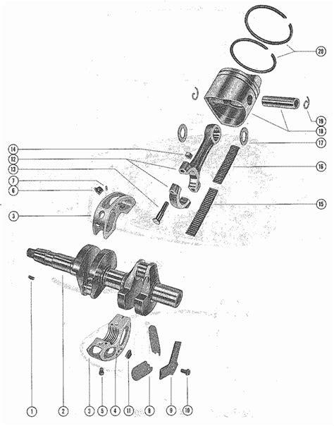 Mercury Marine 350 Crankshaft, Piston & Connecting Rod
