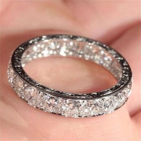Best 25  Diamond wedding bands ideas on Pinterest   White
