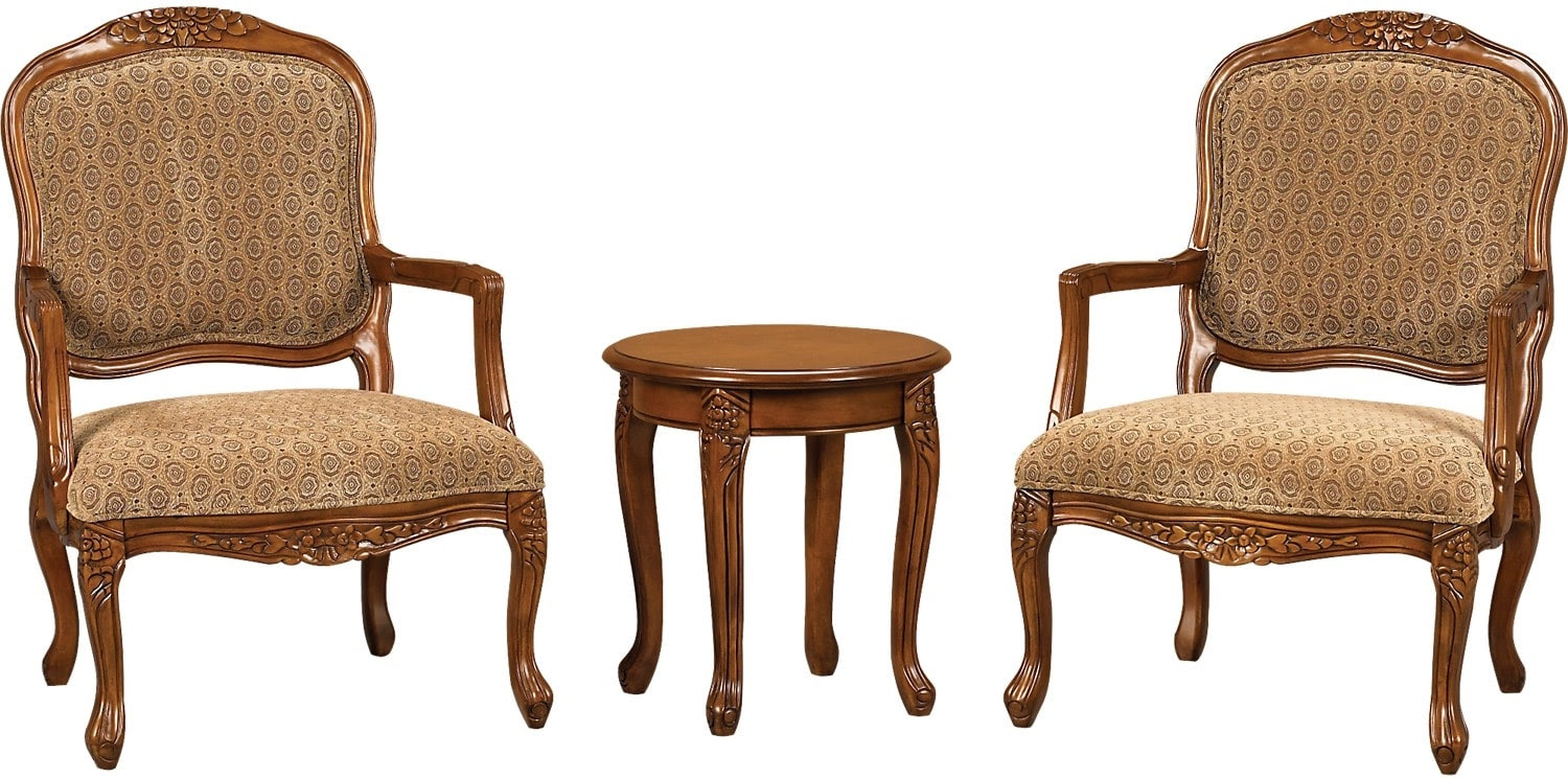 3 Piece Tasha Accent Chairs  Side Table Set  The Brick