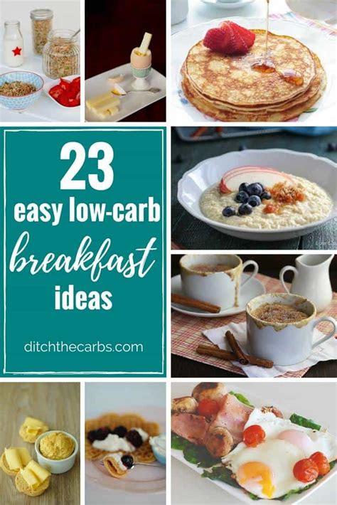 easy  carb breakfast ideas