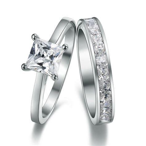Platinum Look 925 Sterling Silver Simulated Diamond