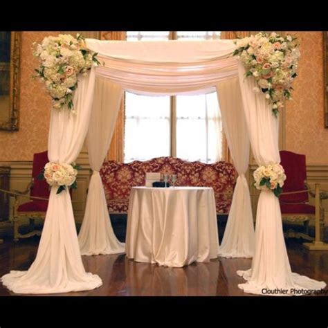 Chuppah.. I like the draping fabric in this chuppah. #