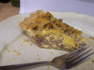 Sausage and Pepper Quiche