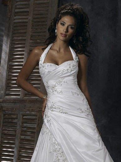 high low halter top wedding dresses   Halter Wedding
