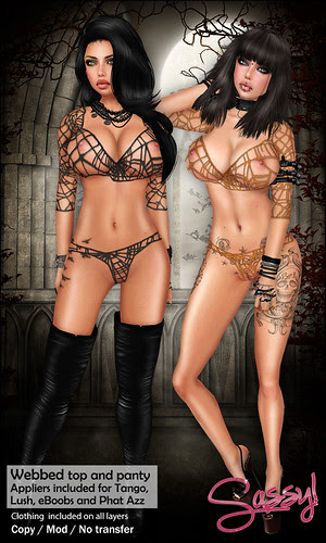 Webbed top and panty set
