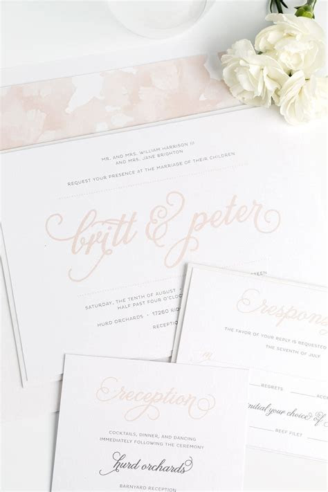 Whimsical Wedding Invitations in Rose Gold ? Wedding