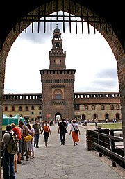 Front view of Castello Sforzesco