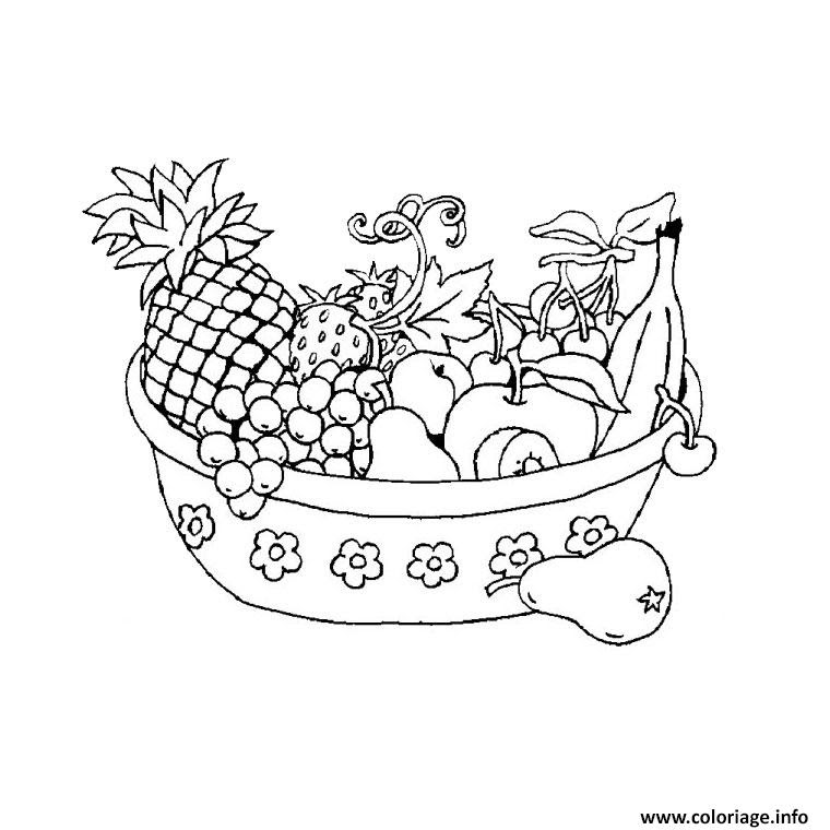 Coloriage Fruits Legumes Jecoloriecom
