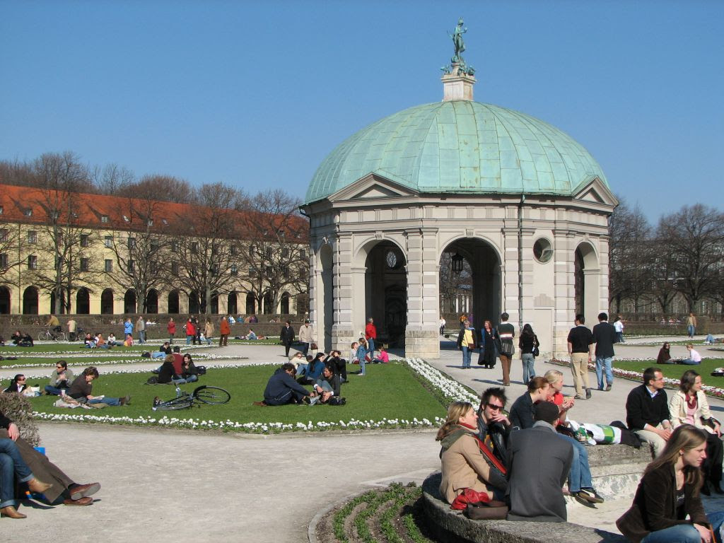 City Walk Hofgarten Area Walk Munich Germany