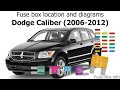 2007 Dodge Caliber Fuse Box Diagram