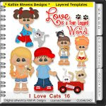 I Love Cats Layered Templates - CU