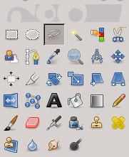 L'icona della selezione libera nella barra degli strumenti
