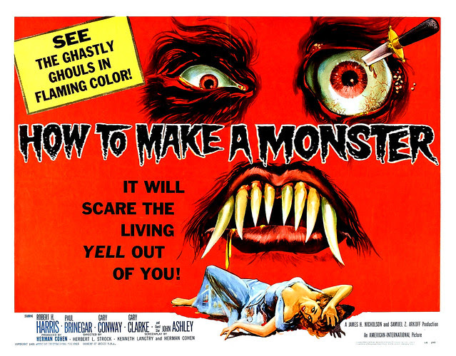 Albert Kallis - How to Make a Monster (American International, 1958) Half Sheet