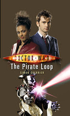 Mock-up rough version of the cover of Doctor Who and the Pirate Loop, featuring Lee Binding's badger artwork