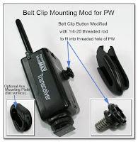 PJ1051: Belt Clip & Aux Mounting Mod for PW