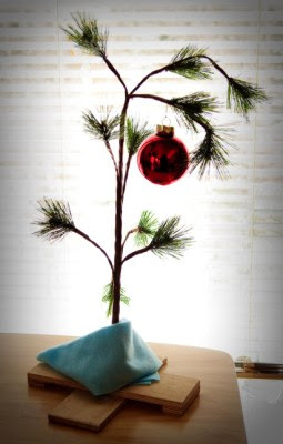 Make A Scrawny Charlie Brown Christmas Tree
