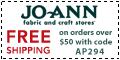 Free shipping at Joann.com! Code: AUGFSA835